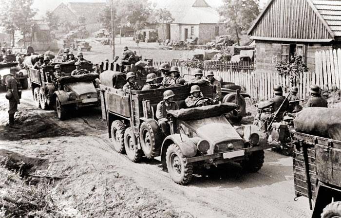 Продвижение немецко-фашистских войск по оккупированной территории